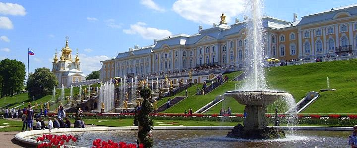 Открытие фонтанов в Петергофе 1